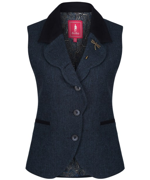 Women's Jack Murphy Poppy Tweed Gilet - Summer Aqua