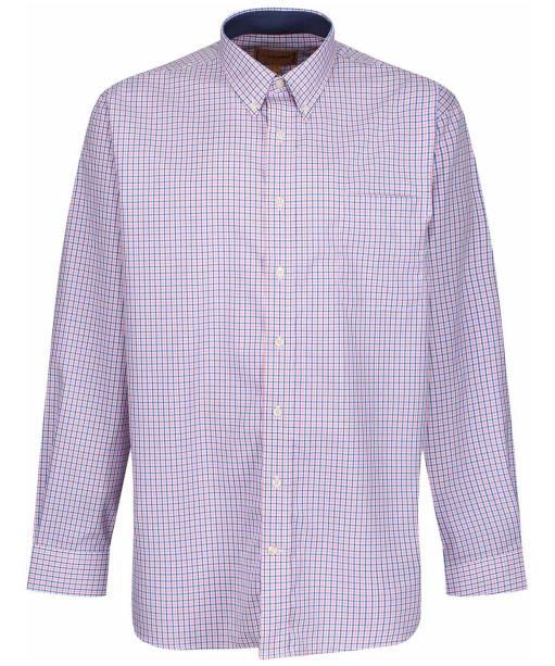 Men's Schoffel Morston Shirt - Navy / Pink Micro