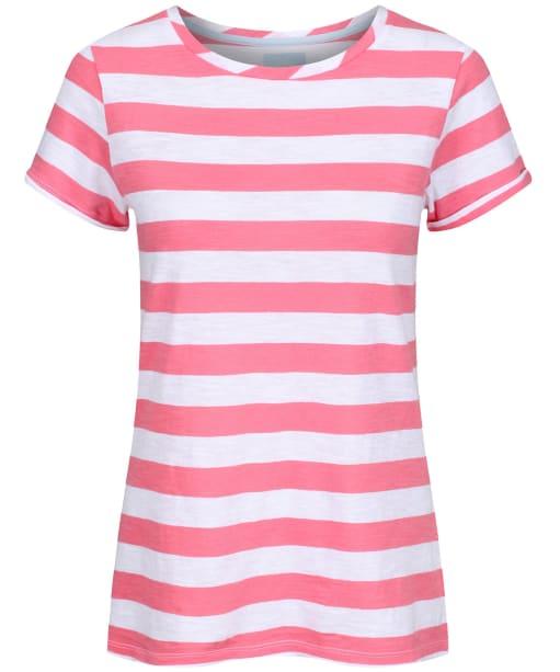 Women's Joules Nessa Jersey T-Shirt - Pink / White Stripe