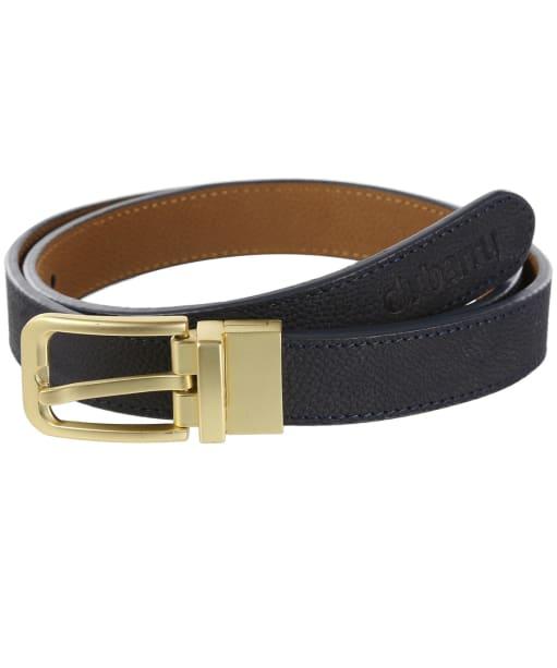 Dubarry Foynes Reversible Leather Belt - Navy / Tan