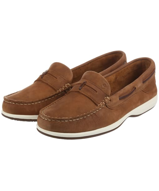 Women's Dubarry Sardinia Moccasin Shoes - Chestnut