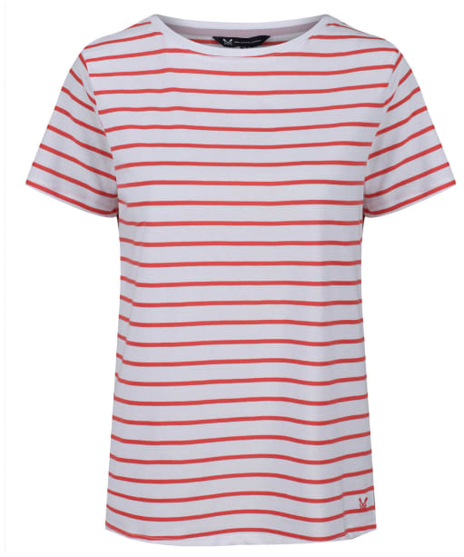 Women's Crew Clothing Breton Top - Spiced Coral