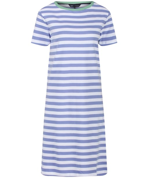 Women's Crew Clothing Breton Dress - Hyacinth / White