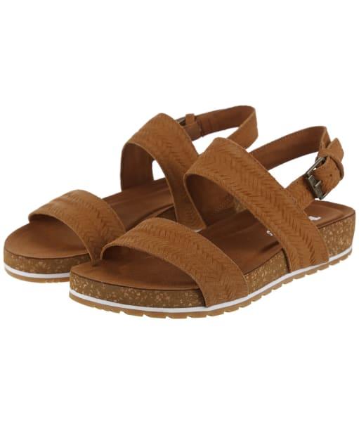 Women's Timberland Malibu Waves 2-Band Sandals - Brown