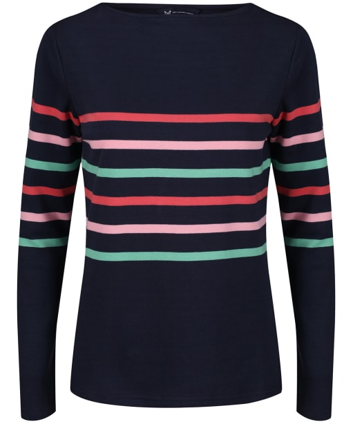 Women's Crew Clothing Ultimate Breton Top - Navy Colour Block Multi