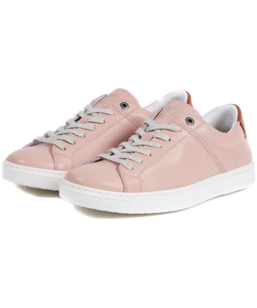 Women's Barbour Catlina Leather Trainers - Blush