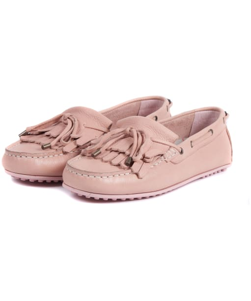 Women's Barbour Carmen Loafers (Nubuck) - Blush