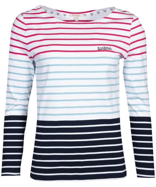 Women's Barbour Slipway Top - White Multi Stripe