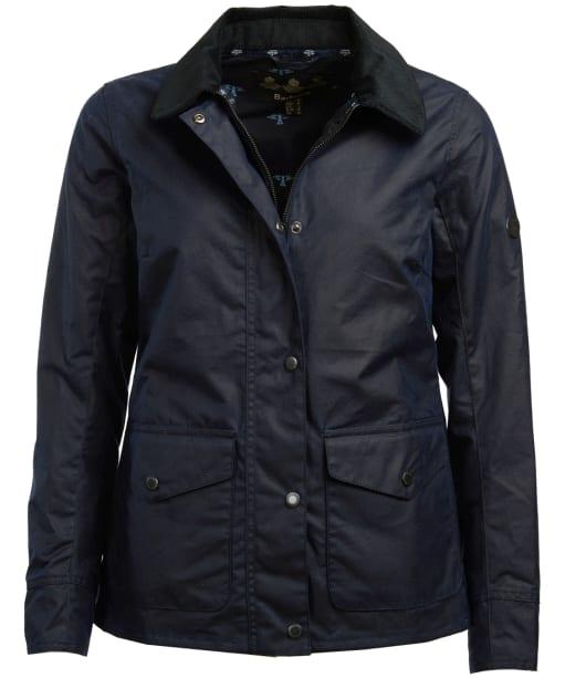 Women's Barbour Shoreline Wax Jacket - Royal Navy