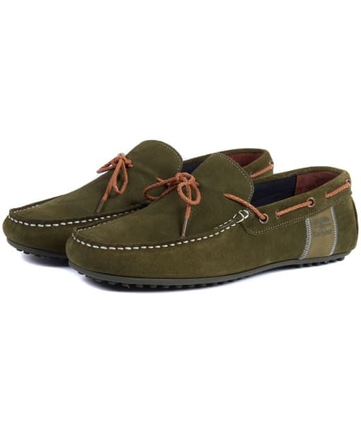 Men's Barbour Eldon Suede Shoes - Light Olive
