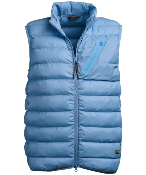 Men's Barbour International Brake Gilet - Cloud Blue