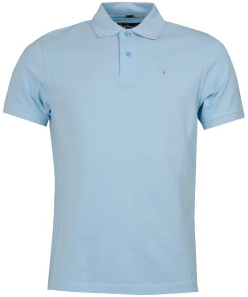 Men's Barbour Tartan Pique Polo Shirt - Ocean Blue