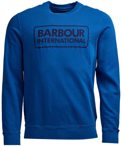 Men's Barbour International Kit Pigment Crew Sweater - Brit Blue