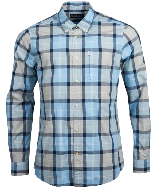 Men's Barbour Burnside Shirt - Ocean Blue