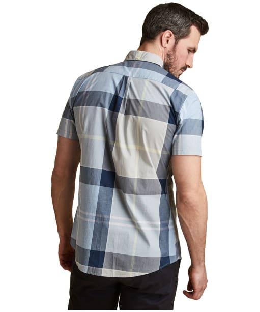 Men's Barbour Croft Short Sleeved Shirt - Ocean Blue