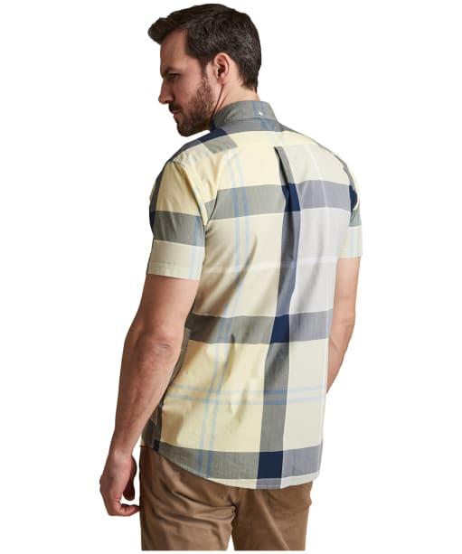 Men's Barbour Croft Short Sleeved Shirt - Lemon Zest
