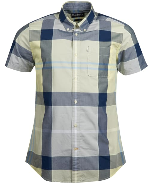 Men's Barbour Croft Short Sleeved Shirt - Lemon Zest