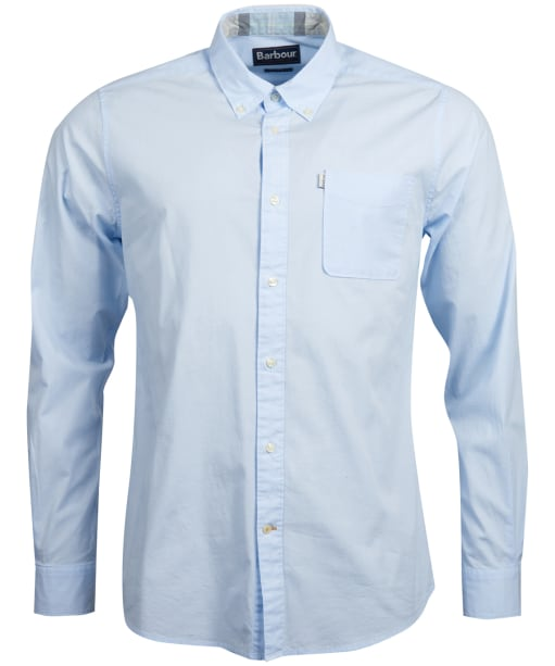 Men's Barbour Heatherbank Shirt - Light Blue