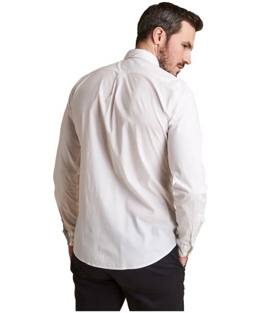 Men's Barbour Heatherbank Shirt - White