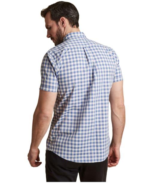 Men's Barbour Gingham Short Sleeved Tailored Shirt - Lemon Zest