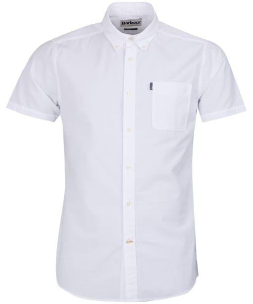 Men's Barbour Stripe 4 Short Sleeved Tailored Shirt - White