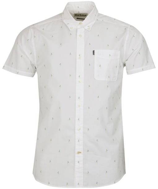 Print 3 S/S Tailored - White
