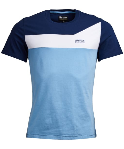 Men's Barbour International Steering Tee - Cloud Blue