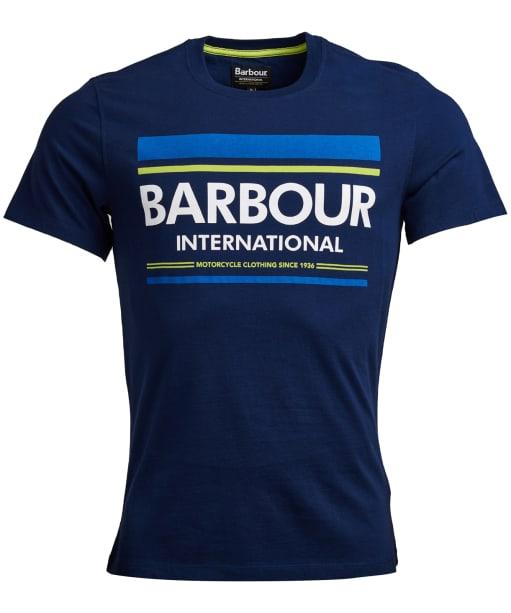 Men's Barbour International Control Tee - Medieval Blue