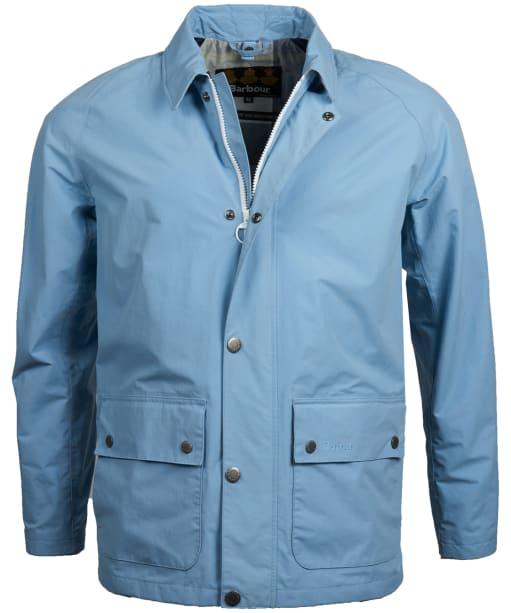 Men's Barbour Storrs Waterproof Jacket - Faded Blue