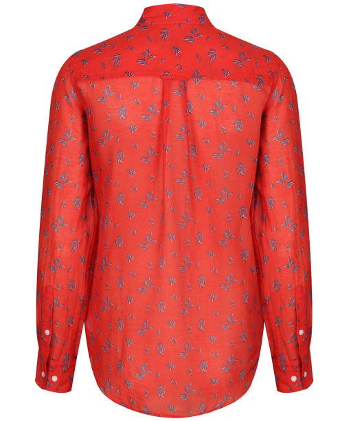 Women's GANT Breezy Cotton Silk Shirt - Blood Orange