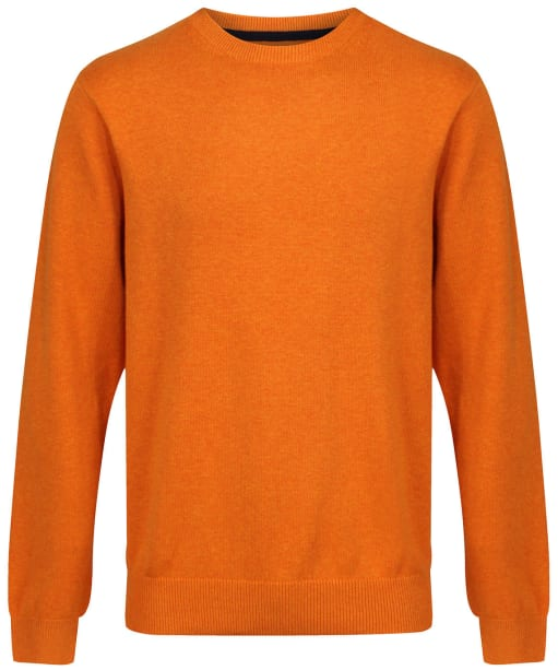 Men's Schoffel Cotton/Cashmere Crew Neck Jumper - Ochre