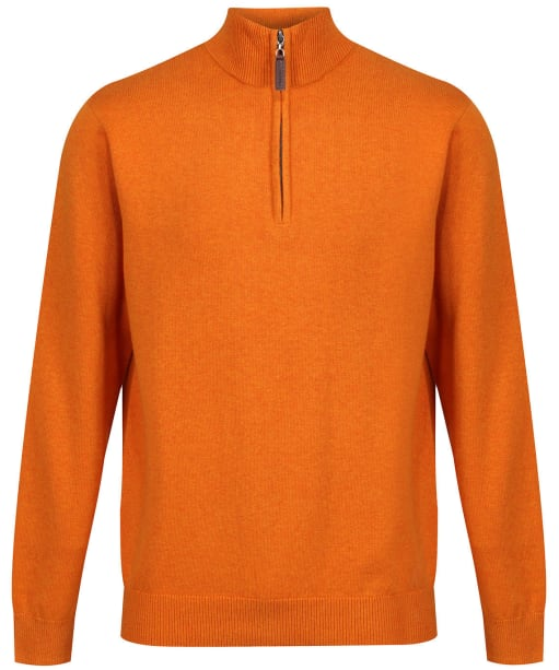 Men's Schoffel Cotton ¼ Zip Jumper - Ochre