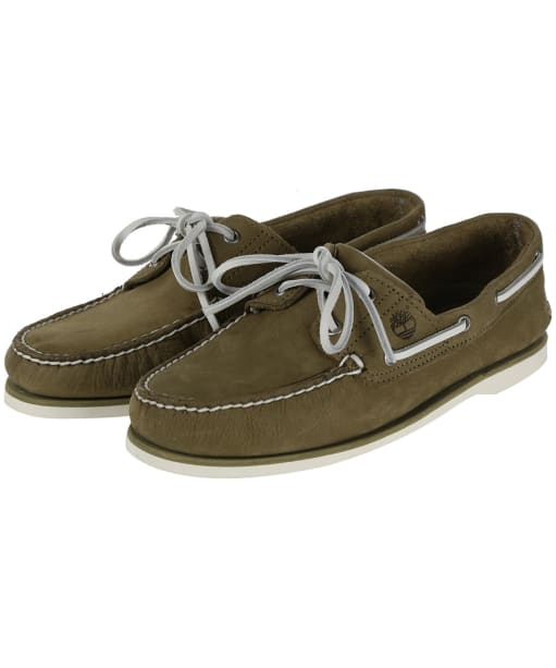 Men's Timberland Classic Boat Shoes - Olive Nubuck