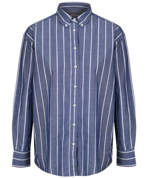 Women's GANT Striped Chambray Shirt - Crisp Blue