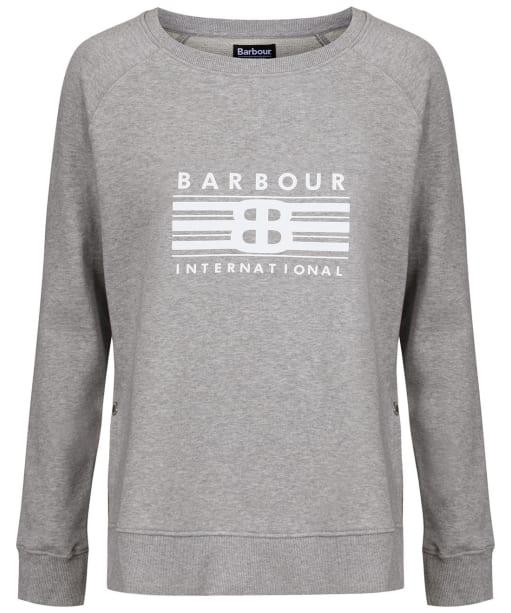 Women's Barbour International Cortina Overlayer - Light Grey Marl