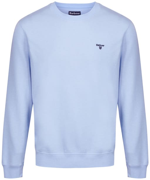 Men's Barbour Seton Crew Neck Sweater - Ocean Blue
