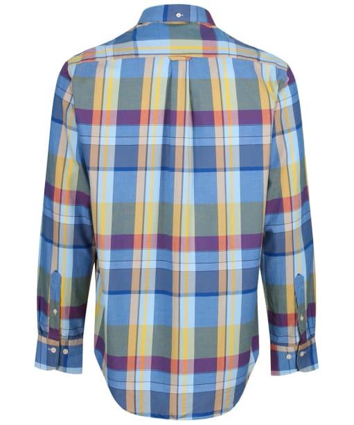 Men's GANT Oxford Madras Shirt - Lake Blue