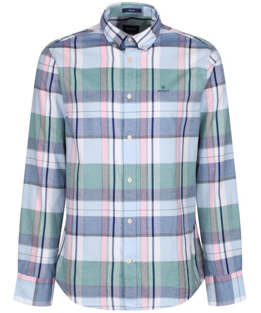 Men's GANT Oxford Madras Shirt - Hamptons Blue