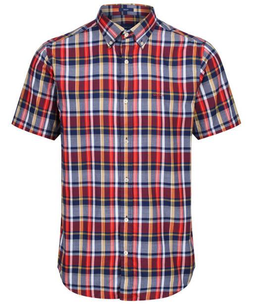 Men's GANT Plaid Oxford Shirt - Persian Blue