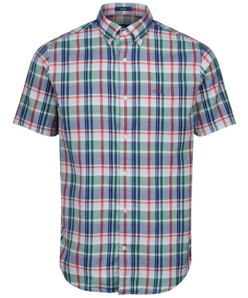 Men's GANT Plaid Oxford Shirt - Ivy Green