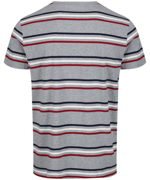 Men's GANT Heavy Jersey Striped T-Shirt - Grey Melange