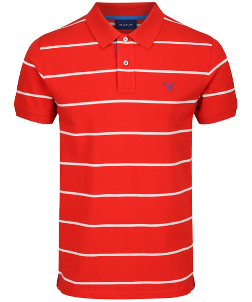 Men's GANT Contrast Rugger Polo Shirt - Blood Orange