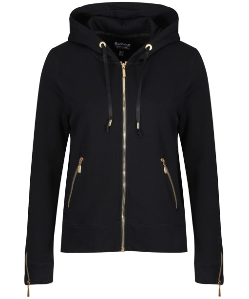 Women's Barbour International League Sweater Jacket - Black