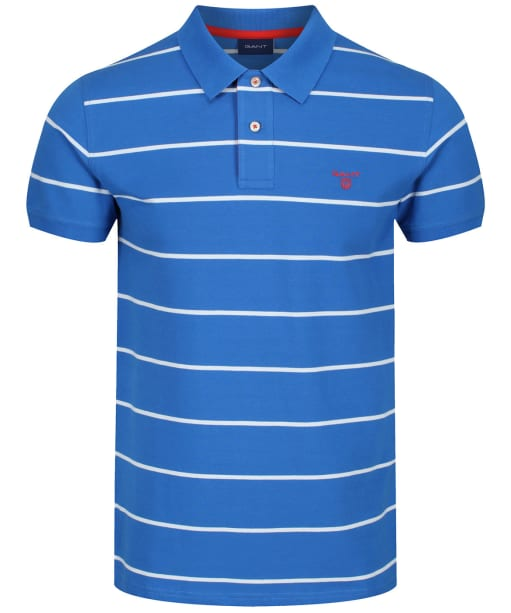 Men's GANT Contrast Rugger Polo Shirt - Lake Blue