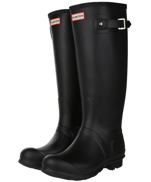 Women's Hunter Original Tall Wide Wellington Boots - Black