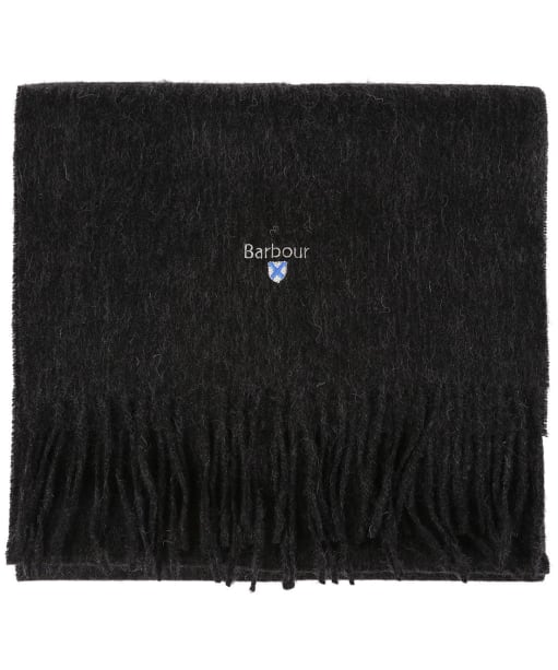 Barbour Plain Lambswool Scarf - Charcoal / Grey