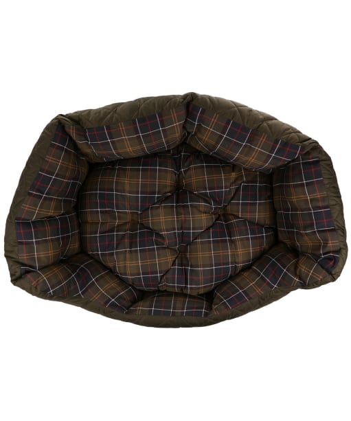 """Barbour 30"""" Quilted Dog Bed - Olive"""
