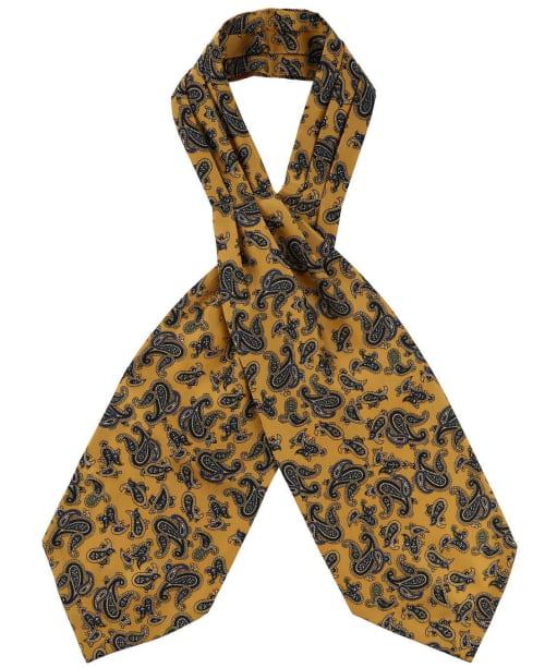 Men's Soprano Silk Twill Paisley Cravat - Mustard
