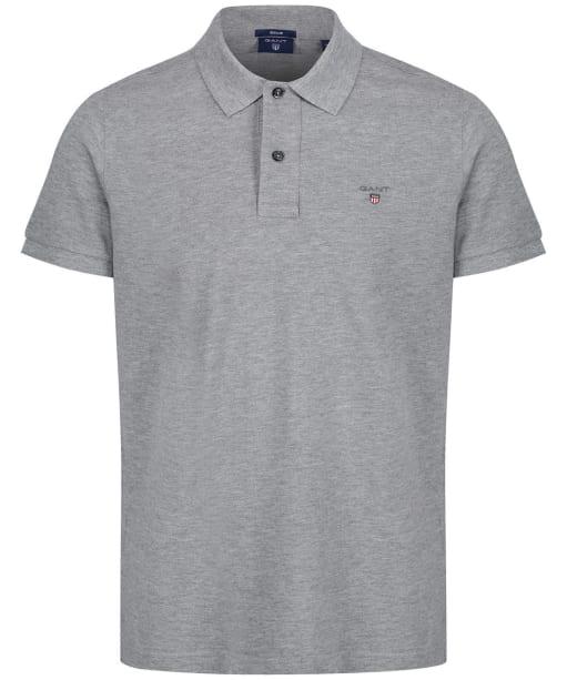 Men's GANT the Original Pique Rugger Polo Shirt - Grey Melange