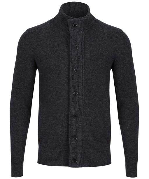 Men's Barbour Patch Zip Through Sweater - Charcoal Marl